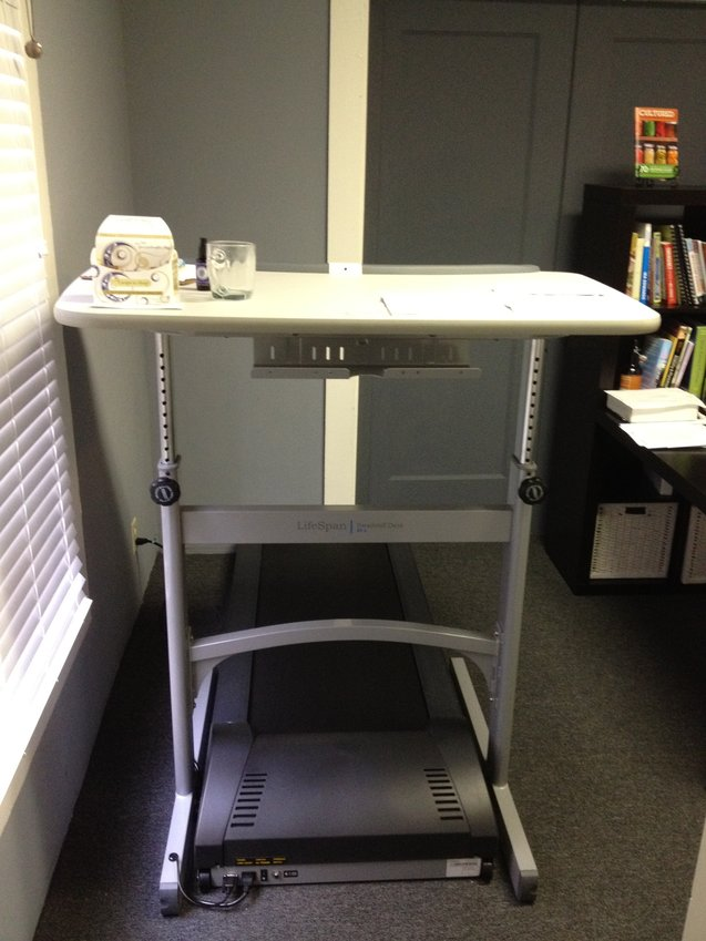 treadmill desk in office