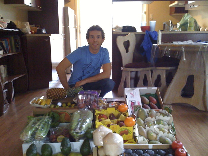 Typical week's fruit shopping when I was on the 80-10-10 Diet.