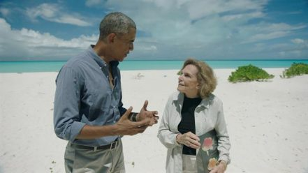 Sylvia Earle and president Obama